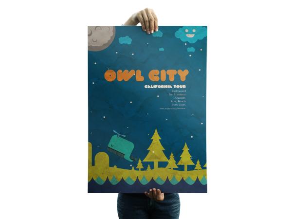 Owl City Posters by Adrian Burga at Coroflot com