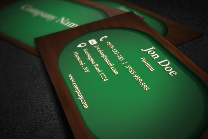 Green wood business card template by borce markoski at coroflot share reheart Images