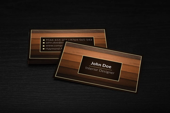 Interior Designer Business Card Template By Borce Markoski At Coroflot Com