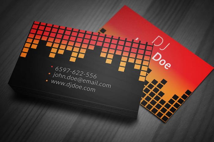 Radio dj business card template by borce markoski at coroflot flashek Choice Image