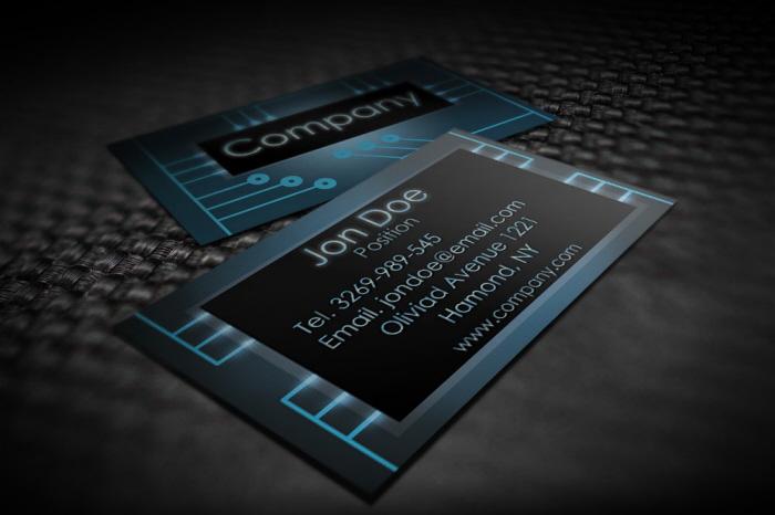 Modern electronic business card templates by borce markoski at share flashek Images