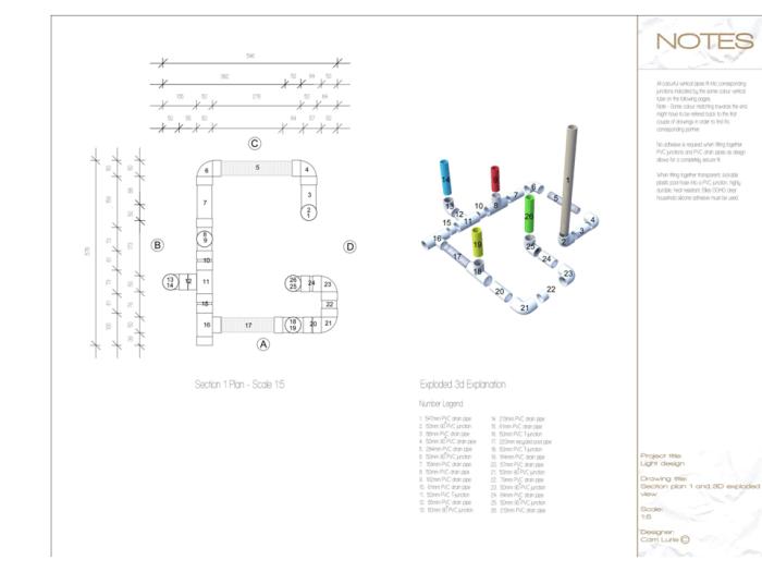 Light Design - PVC Drain Pipes by Carri Lurie at Coroflot com