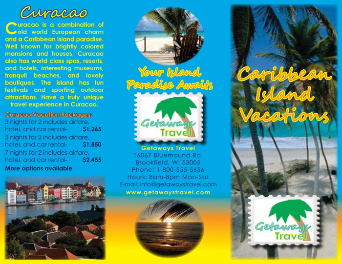 Getaways Travel Brochure Class Project by Candice Gigous