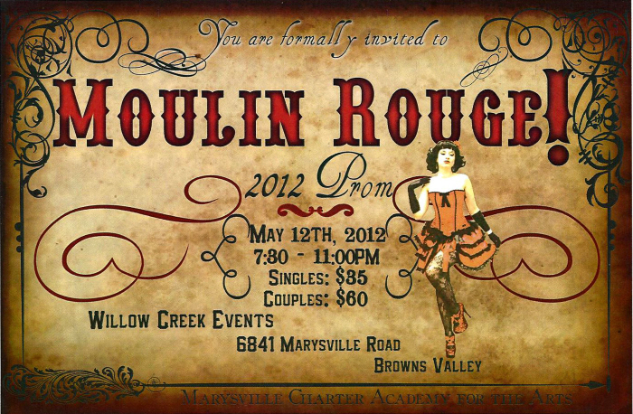 Moulin Rouge Prim Invitation By Jessamarie Ives At Coroflot Com