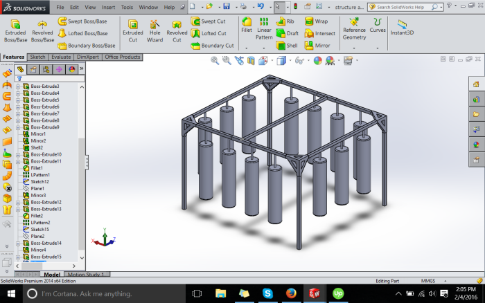 Boxing Structure (solidworks design and simulation) by Ahmed