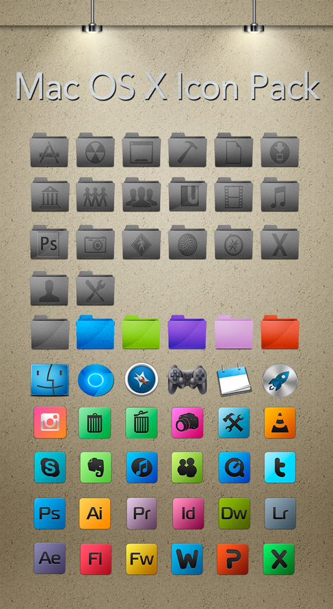 OSX Icon Pack by Alejandro Valle-Garay at Coroflot com