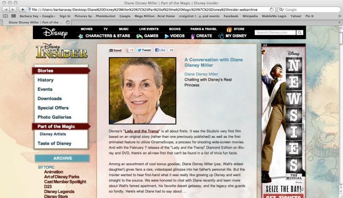 DISNEY INSIDER INTERVIEWS by BARBARA VAY at Coroflot com