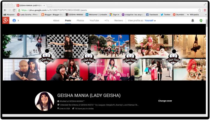 Geisha layout myspace