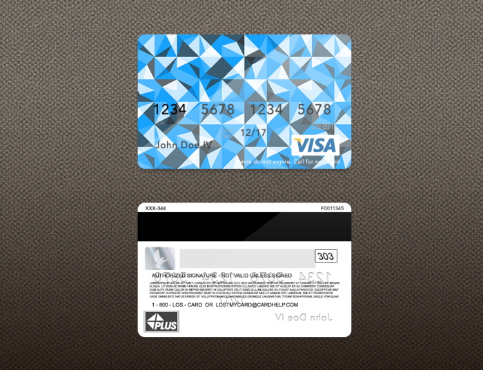 Bank Card Credit Card Layout Psd Template By Zachary Martz At