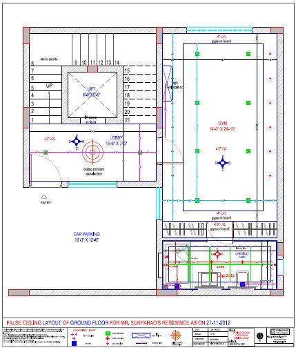 False Ceiling Plan Elevation Section : False ceiling plan elevation section energywarden