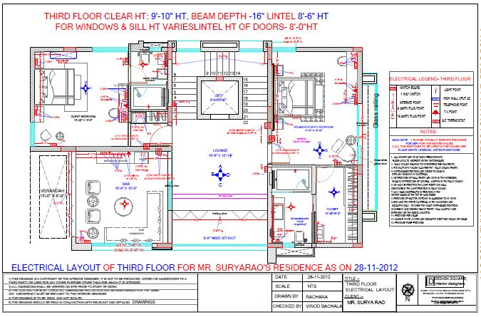 Third Floor Electrical Layout