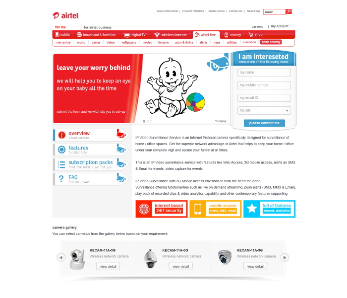 Airtel Surveillance camera by Umesh Bhati at Coroflot com