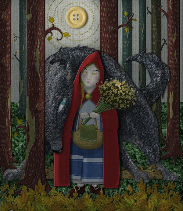 Little Red Riding Hood Children S Book Illustration By