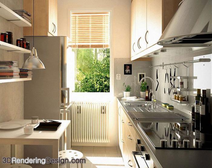 Incredible Modern Kitchen 3D By 3D Rendering Design Specialist In 360 Interior Design Ideas Clesiryabchikinfo