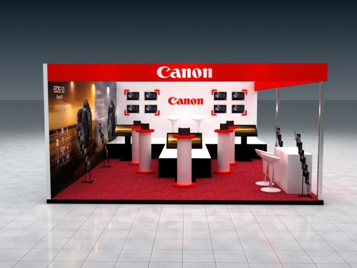 Exhibition Stall : Canon stall exhibition by vivek gupta at coroflot