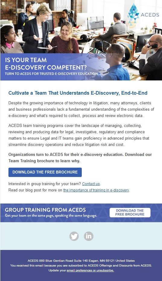 BARBRI Email Campaign - ACEDS Professional Organization by