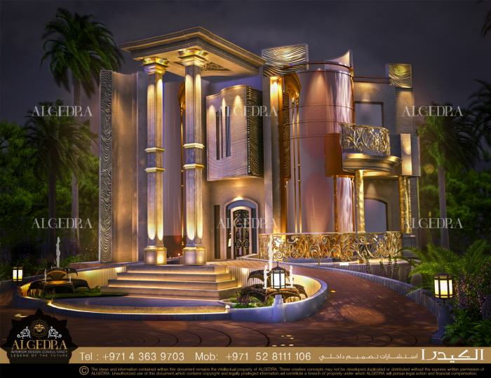 Villa Exterior Design by ALGEDRA Interior Design at Coroflot.com