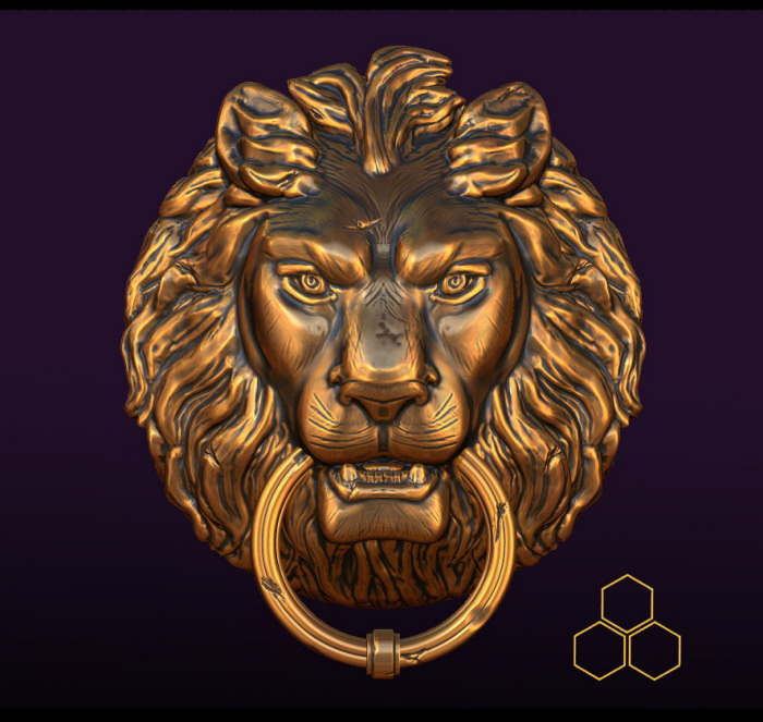 Lion Head Doorknocker By Dara