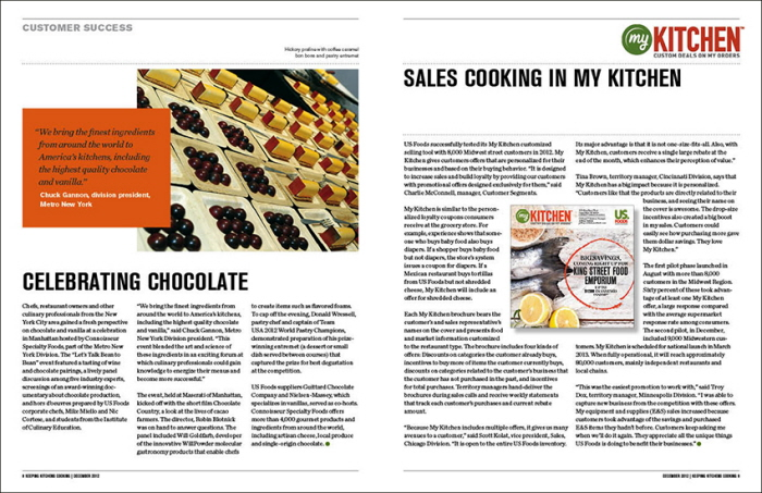 US Foods Keeping Kitchens Cooking Magazine by Mark Meyer at