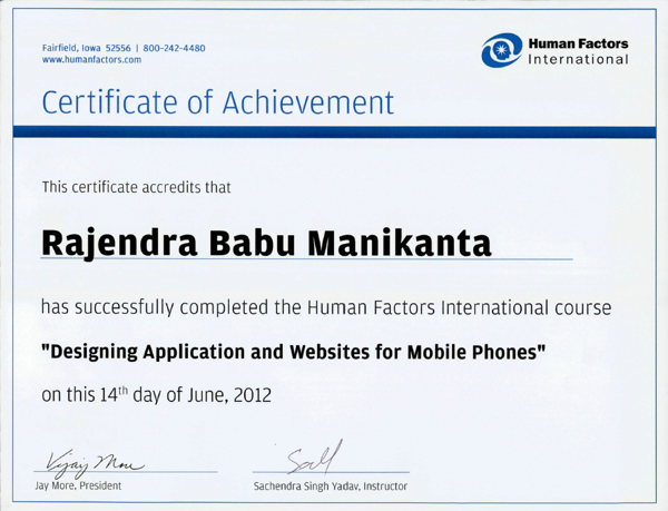 HFI Certification UI/UX by RajendraBabu Manikanta at Coroflot.com