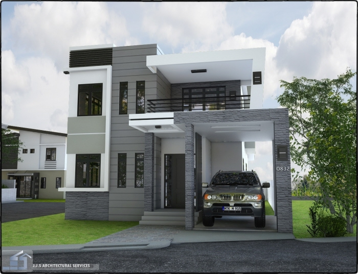 Home Design Gate Ideas: 2 Storey Residential House By J.J.S