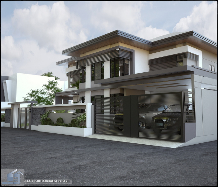 Modern House Design Philippines: 2 Storey Residential House By J.J.S