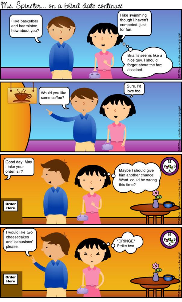 Miss Spinster Comic Strips by Jazmin Cruz at Coroflot com