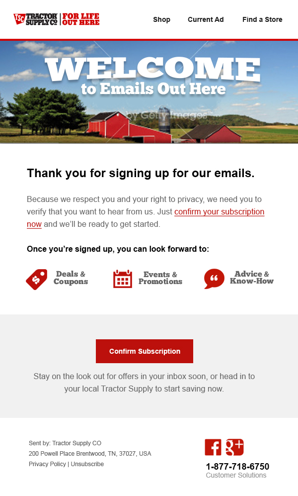 Tractor Supply Co Emails By Mark Miller At Coroflot