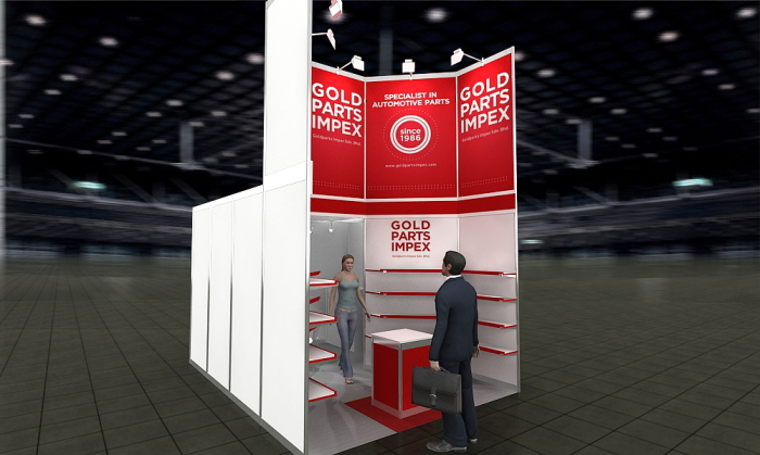 Exhibition Stand Parts : Exhibition stand gold parts impex by michal kana at coroflot