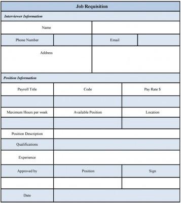 Job Requisition Form Examples by Jasmine Everett at Coroflot.com