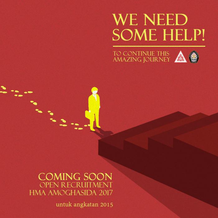 Poster Open Recruitment HMA Amoghasida 2017 by Rifqi Adjie ...