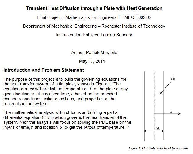 Engineering: Transient Heat Diffusion by Patrick Morabito at