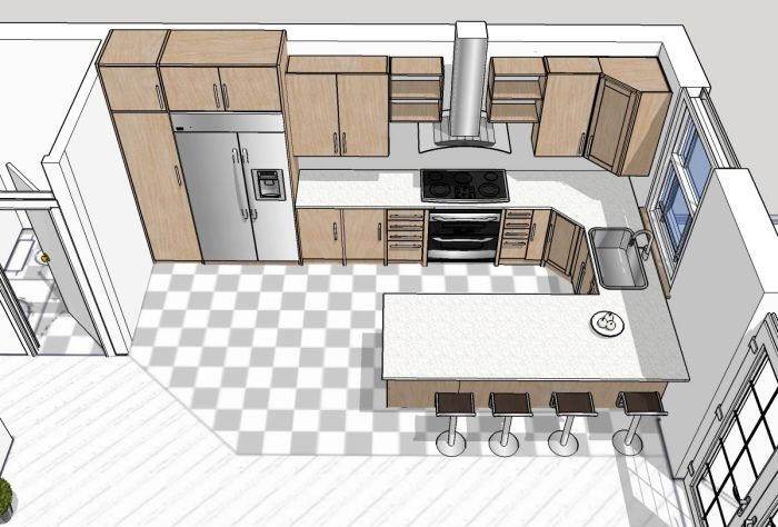 Kitchen design in SketchUp by Abramov´s Design at Coroflot.com