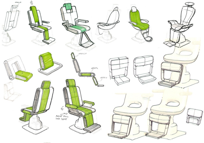 chair design sketches. Plain Chair Chair Sketches  Early Sketches Explored Different Directions Once A Design  Was Chosen My Task To Integrate Features Such As The Foot Rest And  For Design E