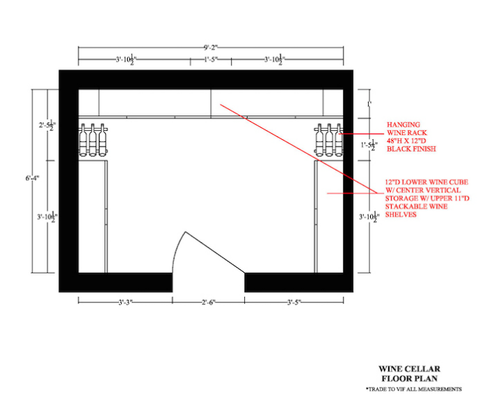 AutoCAD/SketchUp: Wine Cellar - Space Planning - Elevations