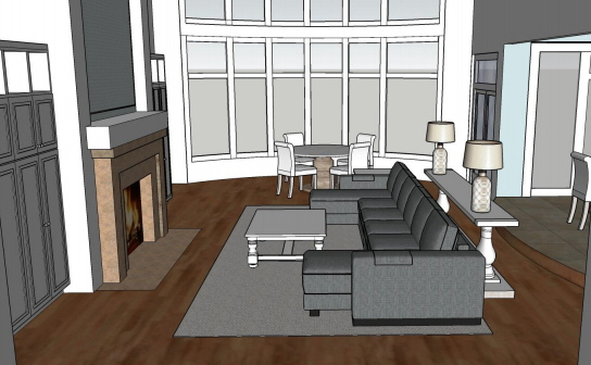 SketchUp: Living Room/Kitchen/Dining Area   Floor Plan By Samantha Wood At  Coroflot.com