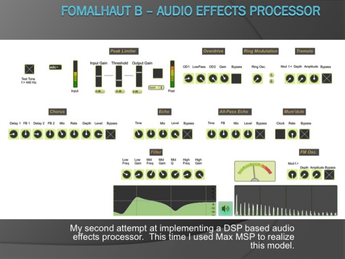 Max MSP - DSP Audio Effects Processor by Brian Tuley at