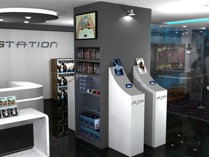 Playstation Store - Interior by Nicole Wee at Coroflot com