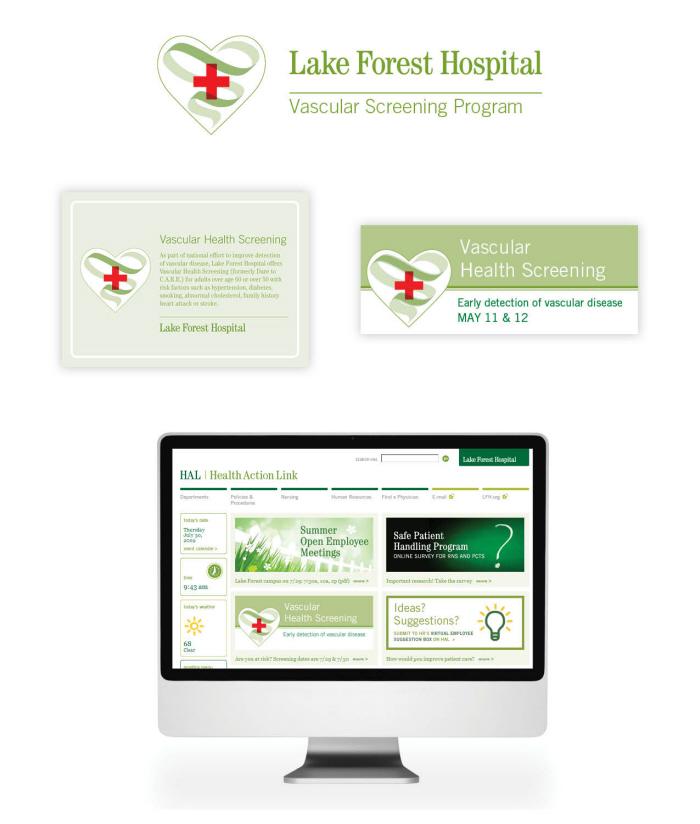 Lake Forest Hospital Vascular Screening Program Branding