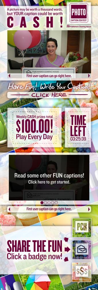 PCH com Photo Caption Contest Social Media Campaign by