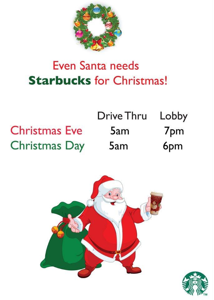 Starbucks Christmas Hours.Starbucks Holiday Store Hours Flyers By Jennifer Gorman At