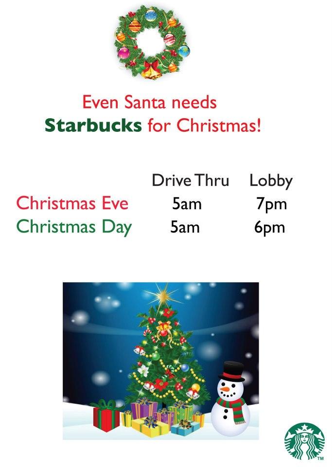starbucks holiday store hours flyers by jennifer gorman at coroflotcom