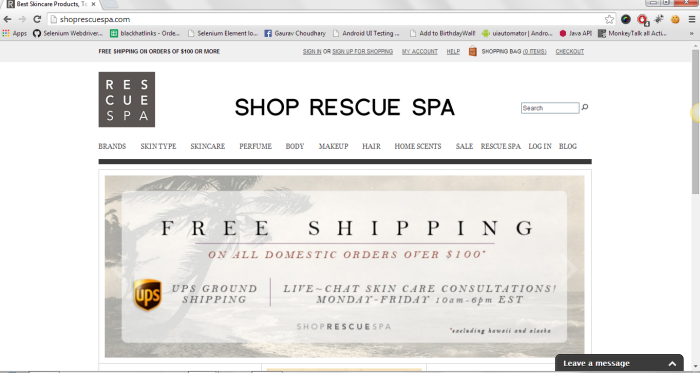 Shop Rescue Spa Web App by Gaurav Singh at Coroflot com