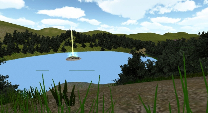 Unity 3D: Interactive Heavenly Environment by Paige Crosby at
