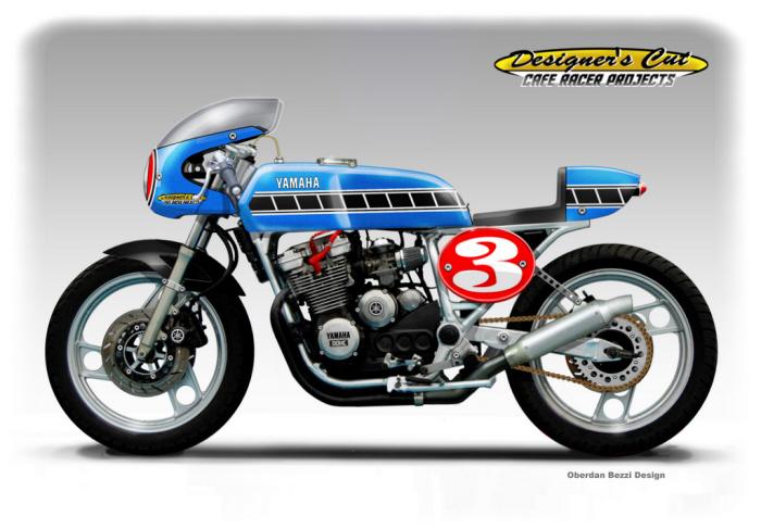Yamaha  Xj  Caf Ef Bf Bd Racer