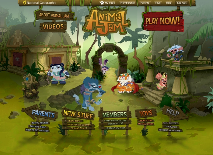 Animal Jam by Alan Rugh at Coroflot com