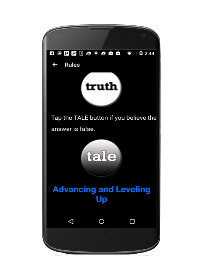 Truth or Tale Game (for Android) by Michelle Goldman at Coroflot com
