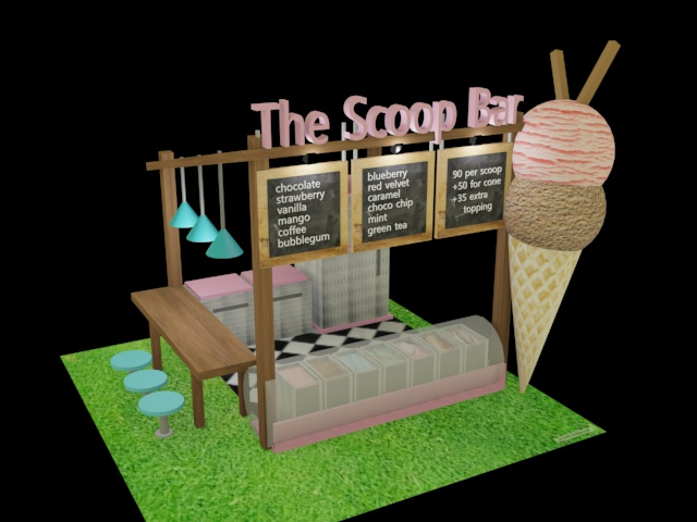 Proposed Kiosk Design (Ice Cream) by Alyssa Balaoing at