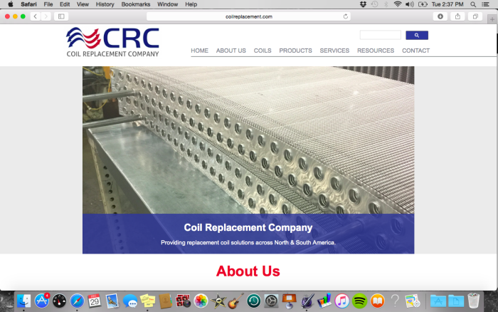 Branding and Web Development for Coil Replacement Company by Dan