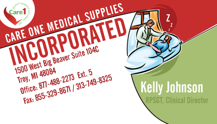 Care One Medical Supplies Incorporated Business Card Designs